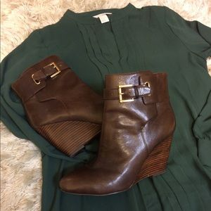 Nine West booties/ free H&M dress with purchase